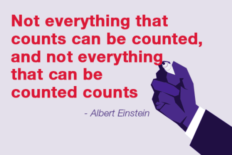 What counts can often not be counted – and what can be counted often does not count.